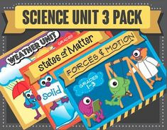****THREE FOR THE PRICE OF TWO!! Save $7.50 with this bundle!!****In these first through third grade science units, Ive included numerous resources to help teachers bring science to life for their students. Not only do the worksheets, quizzes, posters and games help students learn the concepts, some very silly monster characters make learning fun.