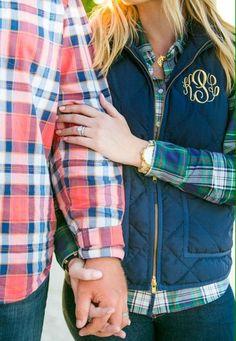 Monogram Vest + Flannel