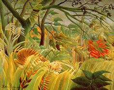 Tiger in a Tropical Storm (Surprised!) by Henri Rousseau from National Gallery London
