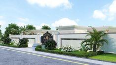 Exterior Wall Design, Gate Design, Classic House Exterior, Dream House Exterior, House Plans Mansion, New House Plans, Driveway Design, Duplex House Design, Classic Garden
