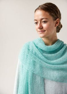 Ravelry: Open Air Wrap In Tussock pattern by Purl Soho Knit Wrap Pattern, Lace Knitting Patterns, Shawl Patterns, Lace Patterns, Free Pattern, Knitted Poncho, Knitted Shawls, Lace Shawls, Lace Scarf