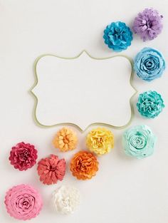 paper flowers! so cute