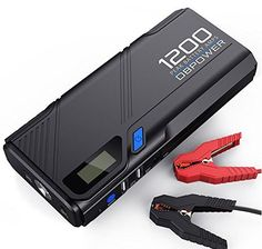 DBPOWER Peak Portable Car Jump Starter (for Gas, Diesel Engine and more), Car Battery Booster Pack & Charger, Power Bank Phone Charger with Built-in LED Emergency Flashlight – Deals Good Linux, Tractor Battery, Portable Phone Charger, Optima Battery, Lead Acid Battery, Lampe Led, Diesel Engine, Diesel Cars, Led Flashlight