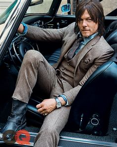 Norman Reedus' Long Walk: GQ Cover Story October 2014: Celebrities: GQ Interview with Norman Reedus (Daryl Dixon on The Walking Dead) #TheWalkingDead #NormanReedus
