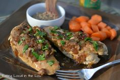 Chicken with Honey-Beer Sauce, adapted from Sept issue of Cooking Light, using locally sourced ingredients