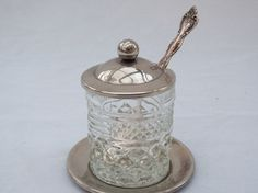 Georgous Silverplate and Lead Crystal Glass by 1littletreasureshop, $28.90