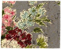 Waverly Vintage floral fabric