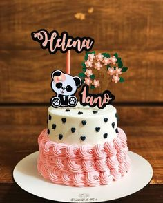 Best Birthday Cake Recipe, Cute Birthday Cakes, Birthday Cake Toppers, Bolo Panda, Cake Land, Panda Cakes, 21st Birthday Decorations, Creative Cakes, Amazing Cakes
