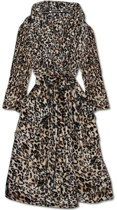 Cozy soft and comfy PRINTED LEOPARD ROBE by P.J. Salvage #pjsalvage #leopard leopard love! PJ Salvage Robes the perfect gift for someone you love!