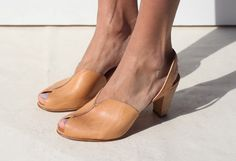 leather heels. by maryam nassir zadeh.