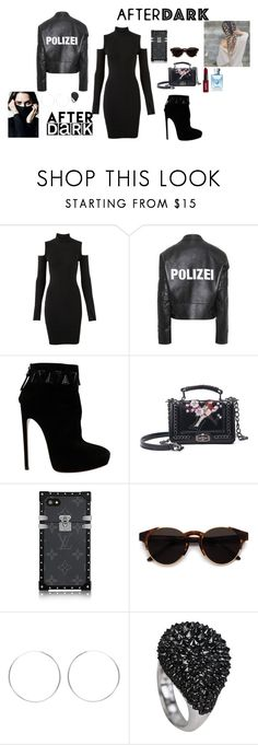 """""""After Dark: Party Outfits"""" by arina-omelchenko ❤ liked on Polyvore featuring Versus, Vetements, Alaïa, RetroSuperFuture, NYX and Fraiche"""