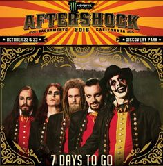 Metal band from Gothenburg Avatar are playing Aftershock festival in California from the 22nd to 23rd October