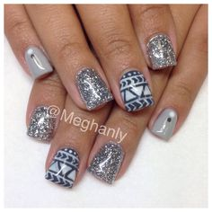 Winter nails tribal nail art