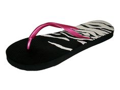 SO Women's Zebra Flip-flops >>> To view further for this item, visit the image link.