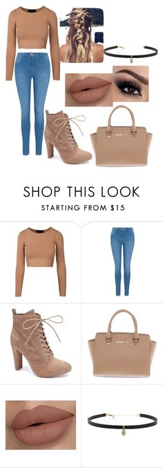 """Nude color look"" by sarahype on Polyvore featuring George, Wild Diva, Michael Kors and Carbon & Hyde"
