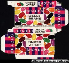 Brach's - Jelly Beans 1-1/4 oz candy box - 1964
