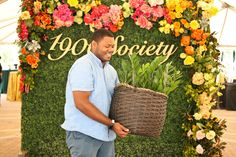 Perfect Party Plant! ZZ Plant in @potterybarn basket   Photo by @foldsphotograph   Derek Eason for Colonial House of Flowers at Georgia Southern University Statesboro Georgia