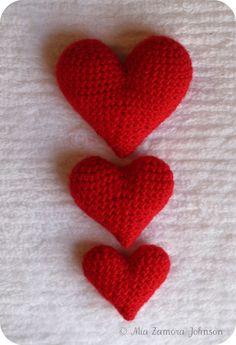 Corazoncitos amgurumi corazones patrón-búho