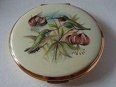 Vintage Kigu Compact Hummingbirds by BraceletstoBuckles on Etsy, £32.00