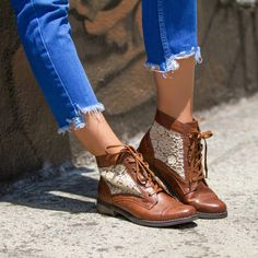 Urban-cool with a side of femme, the Omaris bootie is unlike any style we've seen before. Her lace fabric makes ladylike style laid-back, and we love it.