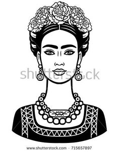 Beautiful Mexican Women, Young And Beautiful, Beautiful Black Women, Frida Kahlo Diego Rivera, Traditional Hairstyle, Frida Art, Butterfly Drawing, Animation, Mexican Art