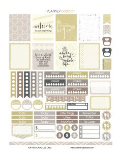 Free Printable Planner Stickers - Wedding - ECLP