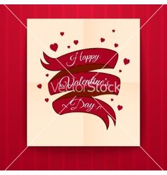 Valentines day typography vector by meowu on VectorStock®