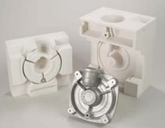 Rapid prototyping machines from ZCorp (specifically ZCast® technology) can 3D print useable molds for casting aluminum and other non-ferrous metal parts with good surface finishes. The material can withstand the heat required to cast and is a blend of foundry sand, plaster, and other additives. The ZCast® process can create these casting prototypes without the costs and lead-times involved when tooling. #casting #metal #prototype