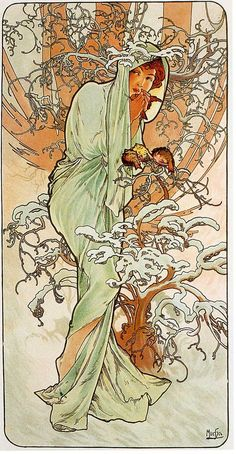 "Alphonse Mucha. ""Winter"". The seasons (1896)"