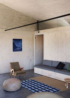 Camping Lite: A Plywood Camp House in Scarborough, South Africa - Remodelista Kids Bedroom Furniture, Space Saving Furniture, Furniture Design, Living Furniture, Fine Furniture, Furniture Stores, Cheap Furniture, Interior Architecture, Interior And Exterior