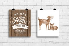 Do not fear for i am with you deer nursery by RainbowsLollipopsArt