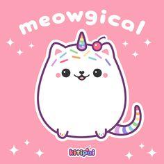 kawaii magical kitty cat unicorn with a cherry on top Unicorn Drawing, Unicorn Cat, Cute Unicorn, Kawaii Doodles, Kawaii Art, Kawaii Anime, Cute Animal Drawings Kawaii, Cute Drawings, Cute Images