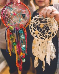 A Party for friends to make your own dreamcatcher, with colorful craft supplies (beads, feathers, string), berry & chocolate skewers, dreamcatcher cookies & more.