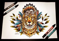 Cheetah by katya-kabum.deviantart.com on @DeviantArt