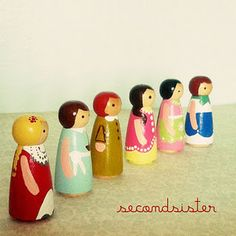 April's precious handmade little people dolls.