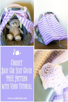 Crochet Car Seat Cover, FREE pattern & video tutorial. How to make a crochet…