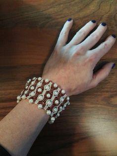 #bracelet #beaded Wedding Rings, Engagement Rings, Diamond, Bracelets, Jewelry, Jewelery, Bangles, Jewellery Making, Wedding Ring