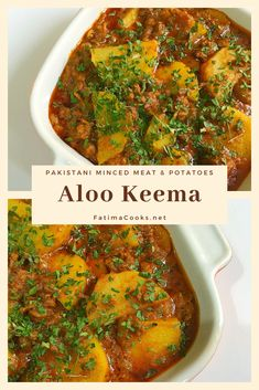 Aloo Keema - Pakistani Minced Lamb and Potato Curry - Fatima Cooks You are in the right place about World Cuisine logo Here we offer you the most beautiful pictures about the World Cuisine design you Lamb Mince Recipes, Meat Recipes, Indian Food Recipes, Cooking Recipes, Pakistani Food Recipes, Halal Recipes, Healthy Recipes, Grill Sandwich, Aloo Curry