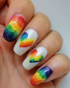 Rainbow nails for Pride Weekend