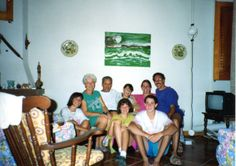Together with Franco and family in their Favignana home