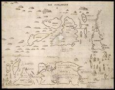 ELIZABETHAN MAP   The Scilly Isles     ✫ღ⊰n