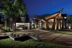 Exterior of the Keoppel home featured in our Design Oklahoma Fall 2014 Issue: http://www.sliceok.com/DOK/September-2014/A-Modern-Marvel-in-Home-Design/