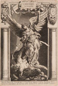 The Archangel Michael Defeating Satan - Lucas Kilian 1588