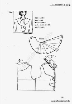 Album Archive - collars: Coquille and flounces /China/ Easy Sewing Patterns, Clothing Patterns, Drawing Sketches, Drawings, Crow, China, Summer Dresses, Clothes, Decor