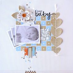 Sweet Baby...great colors for boy page