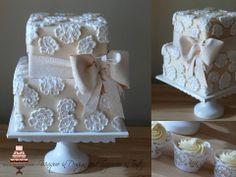 Elegant Lace - Fondant lace embellishments with edible lace ribbon/bow