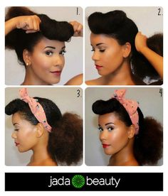 Vintage natural hair do. Love it
