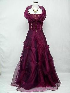 Cherlone-Plus-Size-Satin-Dark-Purple-Prom-Ball-Gown-Wedding-Evening-Dress-26-28
