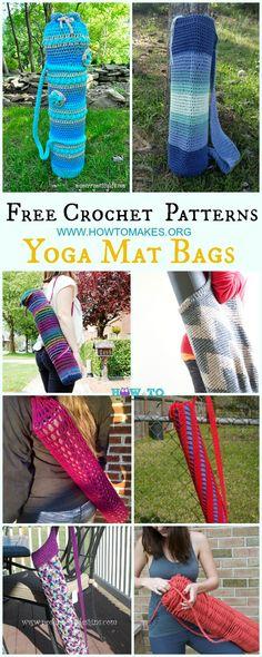 Crochet Yoga Mat Bag Free Patterns #Crochet