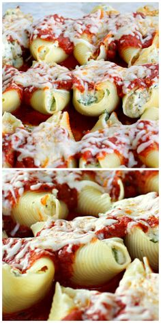 Chicken and Spinach Stuffed Shells - one of my family's favorites.